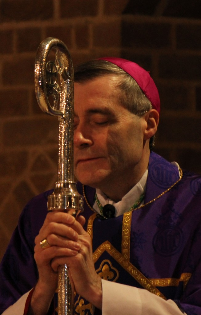 Bishop Davies in Lenten purple